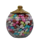 Spice Jars, Dragee and Sweet Jars, Glass Jars for Candies, Glass Jars for Sweet and Chocolates, Glass Jars with Brass Lids