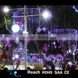 beautiful light Street pole /tree /garden decoration for festive holiday/christmas decor led street decoration arch motif light
