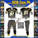 Custom made American Football Uniforms Sublimation and Tackle twill American Football Jerseys