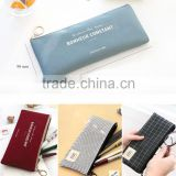 fashion canvas pencil case office& school penci bags durable pouch with high quality