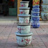 China antique large size decorative ceramic flower pots with plate                                                                                                         Supplier's Choice
