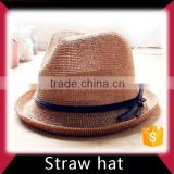 Short beach straw cowboy hat