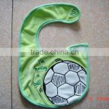 infants&children's cotton bibs customized embroidered ball logo bib-27 for gift and promotion