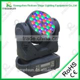 36PCS*3W RGBW LED Moving Beam Light Luces Para Discotecas