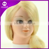 100% human hair training head hairdressing training doll heads plastic human hair training mannequin head