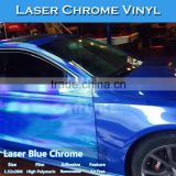 CARLIKE Laser Chrome Blue Holographic Rainbow Sticker Car Vinyl Wrap