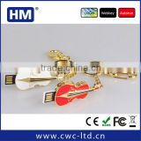 Wholesale guitar shape jewelry USB flash drive with key chain 2GB4GB8GB16GB choice custom solution package/LOGO
