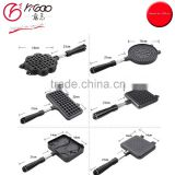 gas stove safe commerical waffle maker with heart,square,fish designs