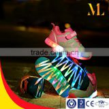 Colorfuy light color fashion popular shoes at USA and Europe girls sports running LED shoes