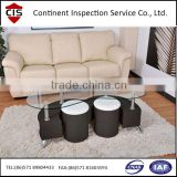 Table base + poufs,office furniture inspection services,inspection agency in China,factory audit,container loading of furniture
