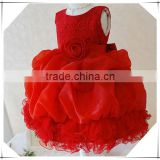 Princess Vestidos Red Girl's dress Flower Girl Wedding dresses Girls Party Pageant Dresses kids ball Gown vestido de festa                                                                         Quality Choice