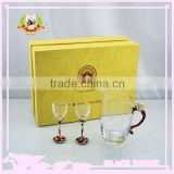 Haon 2014 new design hot sale red wine glass/wine glass cup /bohemia crystal wine glass