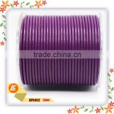 3mm Round Cow Leather Cord in Purple Color 1mm/1.5mm/2mm Available