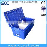 SCC brand LLDPE&PU insulated camping travel cooler box for storing cold food and drink