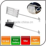Outdoor high power 12 LED street road light Energy Saving led garden solar luminaire light