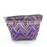 Beauty lady's vinyl cosmetic bag, fashion travel cosmetic bag, wholesale waffle weave cosmetic bag