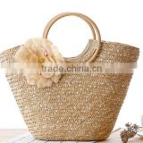 Latest 2016 Characteristics Fashion Straw Ladies Handbag China Factory Straw Tote Bag