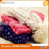 New fashion knit winter hats multi color acrylic beanie hat for women                                                                         Quality Choice