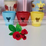 Heart pattern ceramic table planter garden planter flower pot for webbing and valentine's day decoration