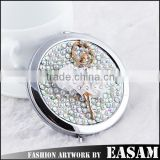 Ballet girl design custom logo rhinestone promotion gift makeup mirror professional