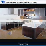Modern rich color options acrylic solid surface countertop kitchen cabinet simple designs