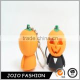 Promotion Gifted Blank Halloween Pumpkin Plastic Keychain For Party
