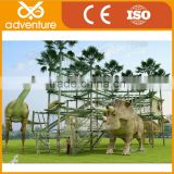 Adventure course dinosaur playground equipment, Jurassic theme park equipment, outdoor obstacle course equipment