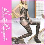 Wholesale fashion plus size long sexy nylon bodystocking