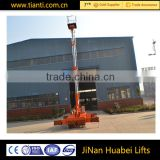 Reliable and safety electric articulated platform multi-leveled vertical lifting equipment