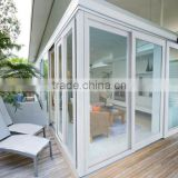 Glass Door Material and Sliding Open Style powder coated bullet proof aluminum security sliding door price