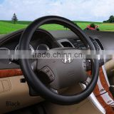 Direct Black and Beige Microfiber Leather Auto Car Steering Wheel Cover Universal 15 inch