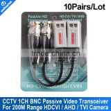 BNC TVI Video Balun Passive Transceivers UTP Balun BNC Cat5 Support HDCVI/AHD/TVI Camera