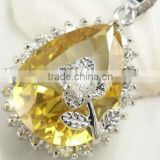 925 sterling silver jewelry with yellow topaz