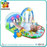 Good quality baby play gym mat with baby hanging toy and piano toy