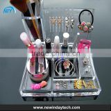 Alibaba China wholesale acrylic makeup box lucite plastic crystal clear custom acrylic makeup organizer