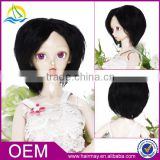 Fashion american style cheap ball joint doll wig short cute black doll wig 2015