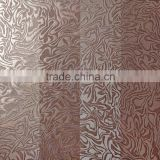 Red shinning glazed metallic porcelain ceramic industrial tiles for night club bar counter design foshan building materials