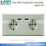 EU UK US USA plugs universal wall socket with usb port