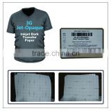 Yesion Wholesale 3G Jet-Opaque Transfer Paper for Dark Color Clothes, Heat Transfer Paper