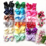 Polka Dots Baby Bow Ties Grosgrain Ribbon Baby Hair Bow