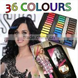 Top selling 6/12/24/36 colors per set Temporary Color Hair Chalk In Gift Tin Ready hair dye chalk