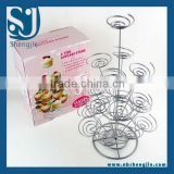 Trade Assurance New 4 Tiers Cupcake Stand Rack wrought iron desert/snack stand Ideal For Party/Wedding