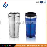 2016 stainless steel liner and plastic outside mug for gift and promotion coffee mug travel mug