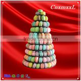 2016 Fast-sell New Patent Multifunctional Macaron Tower ,10 Tier classic tower stand ,Macaron display tray,macaron packaging