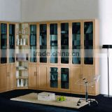 clear acrylic reclaimed wood bookcases