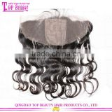 Top Sell Brazilian Virgin Hair Straight Silk Base Closures Full Lace Frontal deep curly 13*4 size with 4*4