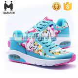 2016 women jogging shoes flower bright colors running shoes fashion style air sport shoes for girls