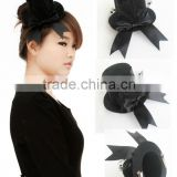 MYLOVE black bow fascinator with clips hair ornaments wholesale MLGM047