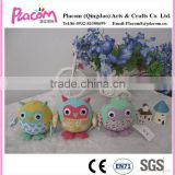 Best selling Hot design Lovely Fashion Promotional gifts and kid toys Wholesale cheap plush keychains Owl
