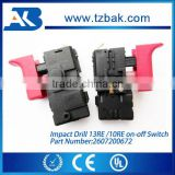 Power Tool on-off Switch for Impact Drill GBM 13RE GBM 10RE Trigger Switch with Speed Control